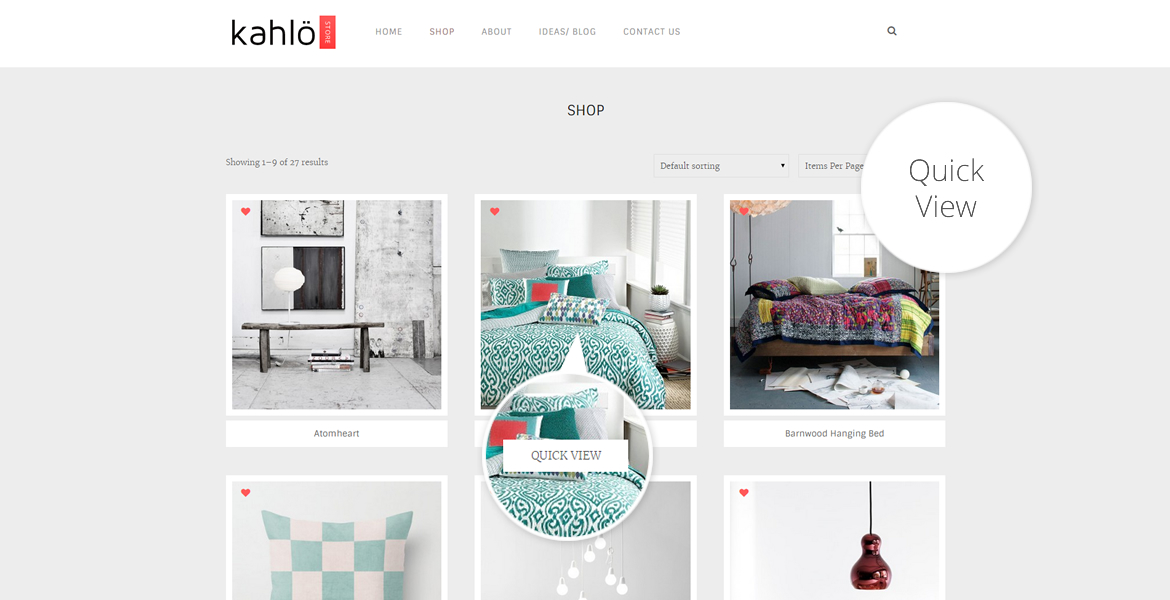 kahlo online shop template-quick view