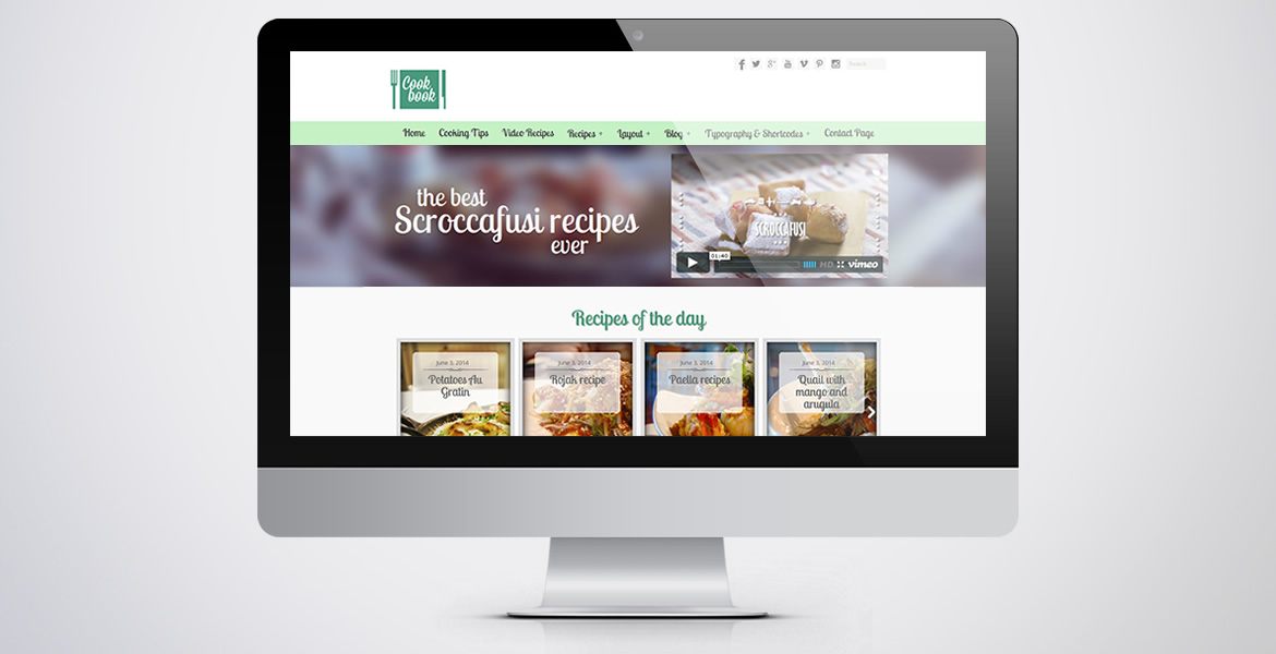cookBook-wordpress-theme