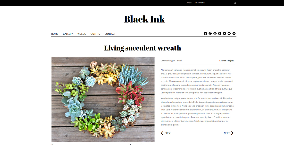Black-Ink-theme-gallery-page