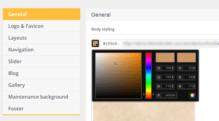 Choose your own theme colors