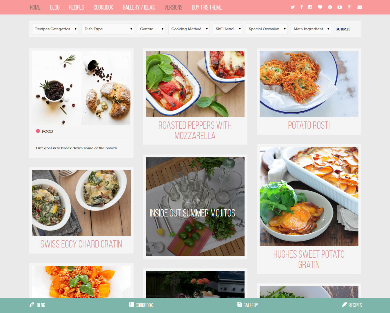 Food Blog & Cooking Recipes website template