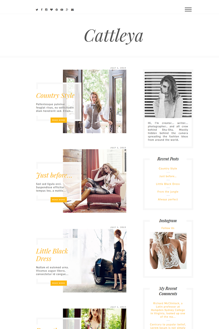 Cattleya Responsive Fashion Lifestyle Fashion Wordpress Theme